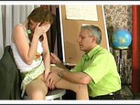 Young chick gives her tutor a stunning skillful blowjob