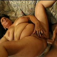 Plump brunette slut gets nailed