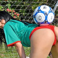 Horny little soccer latina get her ass and pussy licked up in the park then pounded hard in these latina fucking vids